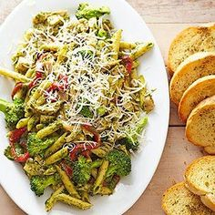 Pesto Penne with Deli-Roasted Chicken From Better Homes and Gardens, ideas and improvement projects for your home and garden plus recipes and entertaining ideas.