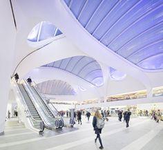 Birmingham New Street Station | AZPML - Arch2O.com Futuristic Architecture, Architecture Details, Library Architecture, London Architecture, Building Structure, Building Design, Roof Structure, Birmingham News, Design Commercial