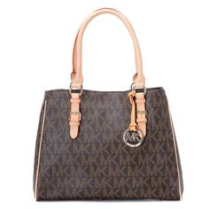 Michael Kors Logo-Print Large Coffee Totes.More than 60% Off, I enjoy these bags.It's pretty cool (: Check it out! | See more about michael kors, michael kors outlet and outlets.