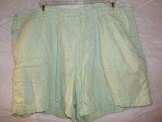 Faded Glory Women's Shorts Casual Drawstring Light Green Plus Size 18 #FadedGlory #CasualShorts