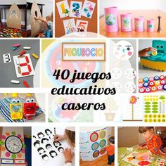 Juegos educativos caseros. Para saber mucho más sobre bienestar y salud infantil visita www.solerplanet.com