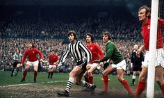 March Nottingham Forest goalkeeper Jim Barron about to give away a penalty against Newcastle United centre forward Malcolm MacDonald, in the FA Cup Round tie that never was. Liverpool Team, Malcolm Macdonald, Peter Beardsley, Bristol Rovers, Nottingham Forest