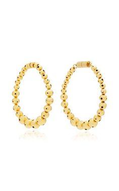 Magdelena Hoops by Paula Mendoza Fall Winter 2018 Paula Mendoza, Jewelry Collection, Luxury Fashion, Beaded Bracelets, Bling, Jewels, Earrings, Gold, Fashion Design