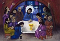 Last Supper by 15 yr old from Latvia from a series :Children of the world illustrate the bible.....www.bible2000.com Jesus Camp, Church Icon, Holy Thursday, Biblical Art, Last Supper, Holy Week, Christmas Paper, Christian Art, Religious Art