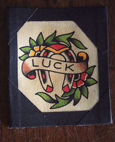 Vintage Traditional Tattoo Flash Original Painting by MatthewDunn