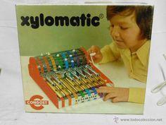 Juego de mesa, Xilomatic, xilófono mecánico, de Congost, año 1970, con su caja original