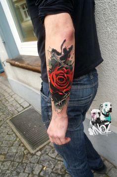 Hergestellt von Stella Luo Tätowierern in Toronto, Kanada - rose tattoos Rose Tattoos For Men, Sleeve Tattoos For Women, Tattoos For Women Small, Trendy Tattoos, Small Tattoos, Tattoos For Guys, Cool Tattoos, 3d Rose Tattoo, Life Tattoos