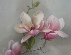 Paintings by Jill Kirstein Art Painting, Floral Painting, Floral Art, Leaf Wall Art, Acrylic Flowers, Watercolor Flowers, China Painting, Peony Painting, Decorative Painting
