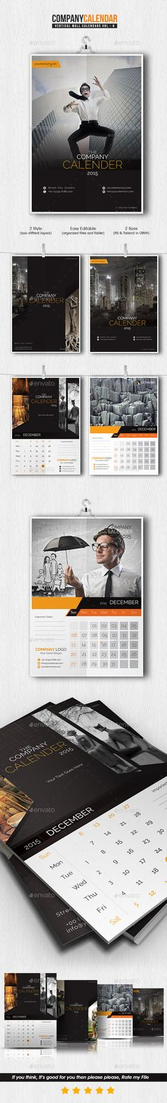 Company Calendar 2015 Template | Buy and Download: http://graphicriver.net/item/company-calendar-2015/9798648?ref=ksioks                                                                                                                                                                                 More