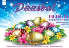 Flyer voor het Paasbal bij Dance Centre Omar Smids
