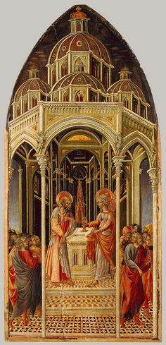 Giovanni di Paolo, The Annunciation to Zacharias; (verso) The Angel of the Annunciation, Italian, Sienese, c. before 1482