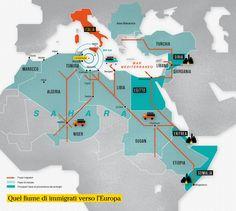 Migration Flows to Lampedusa Infographic #lsicilia #lampedusa #sicily