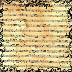 **FREE ViNTaGE DiGiTaL STaMPS**: FREE Digital Scrapbook Paper - Vintage Sheet Music