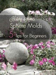 Discover how easy it is to use concrete spheres using molds. Tips for where to find sphere molds, using thin set,concealing seams, and video instructions.