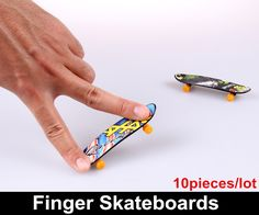 10 pieces/lot Toys for children Novelty Hip-Hop style Finger Skateboard Classic toys for kids Finger scooter Finger Board#children