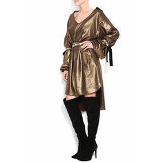 Saash.ro - Stripes Golden Dress Rochii designeri romani
