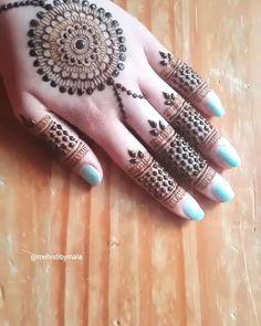 Very basic jewellery style mandala - Henna designs hand - Mehndi Designs For Kids, Latest Henna Designs, Mehndi Designs Feet, Back Hand Mehndi Designs, Mehndi Designs Book, Mehndi Design Pictures, Mehndi Designs For Beginners, Unique Mehndi Designs, Beautiful Henna Designs