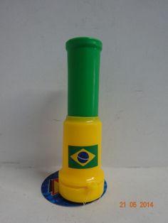 Vuvuzela de Brasil. #ArticulosParaFiestasCali #DecoracionFiestasTematicasBogota