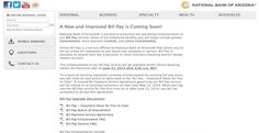 National Bank of Arizona bill pay
