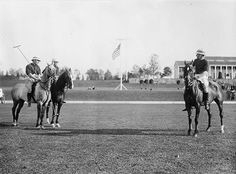 POLO: Polo match between American and English teams, 1913. Polo was played in the in all of the Olympics during the time period. (No Olympics in 1916) The American brand of the game became faster than their English counterparts, who relied on passing. The English would retain superiority in a sport that was highly exclusive and unappealing to most Americans.
