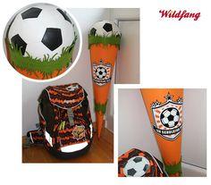 Schultüte - Zuckertüte  #fussball #einschulung #schultuete #wildfangbykatharina