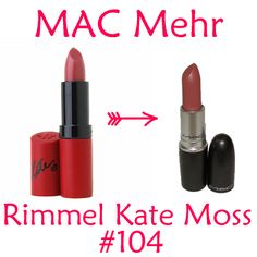 Rimmel Kate Moss #104 is a dupe for MAC Mehr (dirty blue pink)