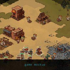 game mockup #6 (western) by Krzysztof Maziarz on ArtStation.