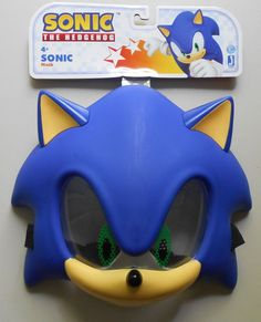 SONIC PLASTIC MASK SONIC THE HEDGEHOG COSTUME ROLE PLAY COSPLAY