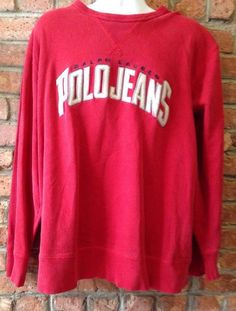 Vintage Ralph Lauren Polo RL-67 Jeans CO Spell Out Crewneck Sweatshirt  Sz XXL    eBay
