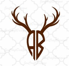 Antler Cuttable Monogram Font Set in SVG, EPS and DXF Format for Cricut Explore, Silhouette Cameo and Brother ScanNCut and others Circle Font, Circle Monogram, Monogram Alphabet, Monogram Fonts, Logo Deer, Deer Horns, Farm Logo, How To Make Logo