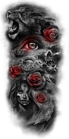 Tattoos And Body Art tattoo designs gallery Forearm Sleeve Tattoos, Full Sleeve Tattoos, Tattoo Sleeve Designs, Tattoo Designs Men, Art Designs, Design Tattoos, Hamsa Tattoo, Diy Tattoo, Custom Tattoo