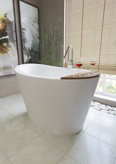 Inspired by ancient Japanese 'sit and soak' bathing traditions, Aquatica created a modern interpretation in True Ofuro™ solid surface deep soaking tub. Learn more here.