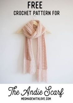 Free Crochet Pattern for the Andie Scarf - Megmade with Love