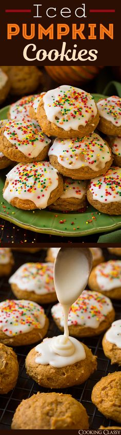 Iced Pumpkin Cookies - these are like soft pumpkin clouds and they are dangerously delicious! A fall must!