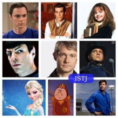ISTJ characters  (Not an all-inclusive list, but some really good examples of the type. Movie Hermione is a classic ISTJ, & Elsa is as well. And most 'Watsons' are ISFJ (Dr. Watson in the books certainly is), but John (from Sherlock) is, I think, an ISTJ.