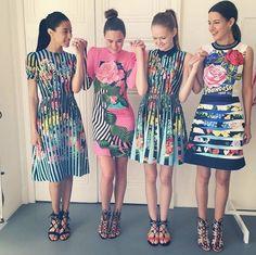 Mary K's flower girls! #preo the newest pieces from Mary Katrantzou on Moda Operandi now!