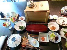 "Prima colazione, Camera di ""Takinoie""(Hotel), Noboribetsu-Onsen(Terme), Hokkaido Japan"