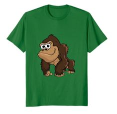 Cute Gorilla T-shirt for kids and monkey loving grown-ups. Buy this adorable T-shirt and show some Gorilla Love! Lucky Blue, Pet Clothes, Boys, Girls, Monkey, Cute Animals, Teddy Bear, Suits, Clothing