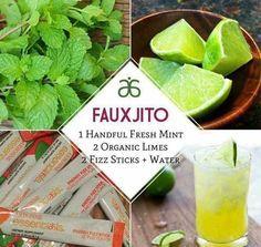 Fauxjitos!!! #summer #hydrate #mocktails #delicious #vegan #energy #Arbonne #mint