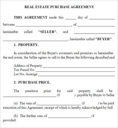 Juicy image with free printable real estate contracts