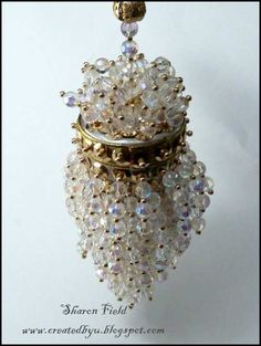 2.Antique Acorn Tea Strainer Ornament Close Up by Sharon Field