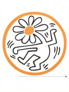 Keith Haring- Flower Button (January 24, 1989)