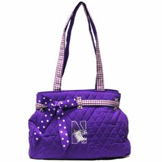 NU quilted handbag with removable snap on bow.