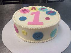 Cute As A Button First Birthday Cake