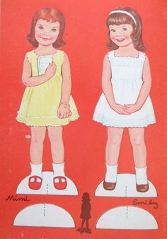Paper Dolls~Lowe Mimi & Emily - DollsDoOldDays - Picasa Webalbum * 1500 free paper dolls at Arielle Gabriels International Paper Doll Society and free China and Japan paper dolls at The China Adventures of Arielle Gabriel *
