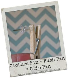 How to Make Clothes Pin Push Pins