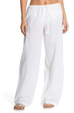 Nordstrom Pants - Tommy Bahama Cover-Up Pants available at Bikini Cover Up, Swimsuit Cover Ups, Cruise Outfits, Party Outfits, Tommy Bahama, Fashion Pants, Women's Fashion, Women Swimsuits, Outfits