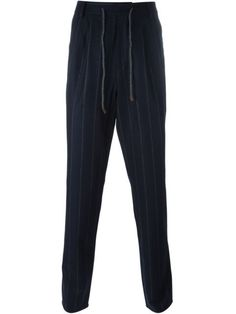 Shop Brunello Cucinelli pinstripe trousers in Cenere from the world's best independent boutiques at farfetch.com. Shop 400 boutiques at one address.