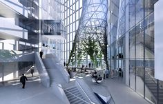 European Central Bank in Frankfurt am Main by Coop Himmelb(l)au