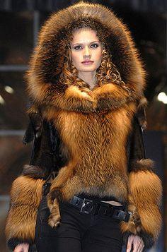 Beautiful fun with hood Fur Fashion, Winter Fashion, Womens Fashion, High Fashion Dresses, Fabulous Furs, Fox Fur Coat, Vintage Fur, Love Clothing, Shabby Chic